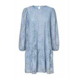 Vero Moda I Alvira Jaquard Kjole I Lys Blå-20