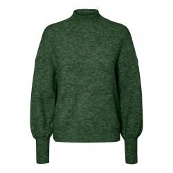 Vero Moda | Simone Ls high neck blouse | Grøn-20