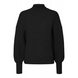 Vero Moda | Simone Ls high neck blouse | Sort-20