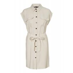 Vero Moda I Venus Wide Kjole I Offwhite-20