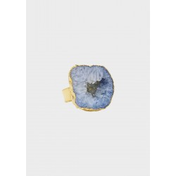 House of Vincent I asger ring celestite no.01 I Forgyldt-20