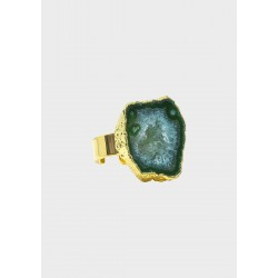House of Vincent I asger ring dioptase no.02 I Forgyldt-20