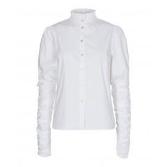 Co'couture I Sandy Poplin Puff Skjorte I Hvid