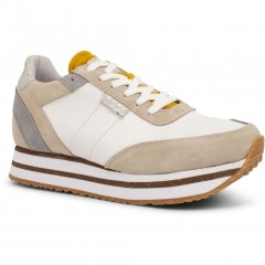 Woden | Ava Suede Sneakers | Sand